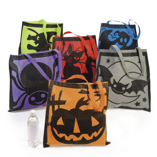 Halloween Sammelbeutel Tasche 6 Motive Geist Hexe Kürbis 12 Stück