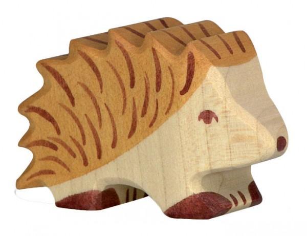 Igel Waldtier Holzfigur Holzspielzeug von Holztiger