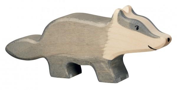 Dachs Holzfigur Holzspielzeug von Holztiger