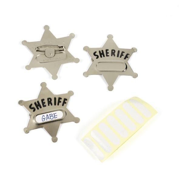 Sheriffstern Wilder Westen Cowboy 12 Stück