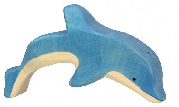 Delfin springend Holzfigur Dolphin Holzspielzeug von Holztiger