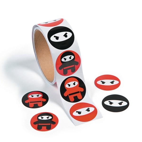 Ninja Samurai Aufkleber Sticker 100 Stück