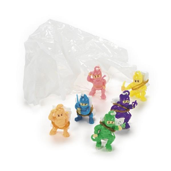 Ninja Spielfiguren mit Fallschirm 12 Stück