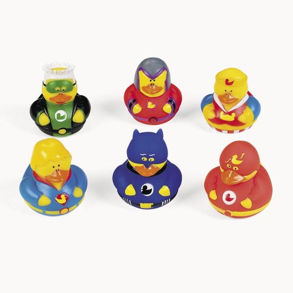 Gummiente Superhelden 6 Stück
