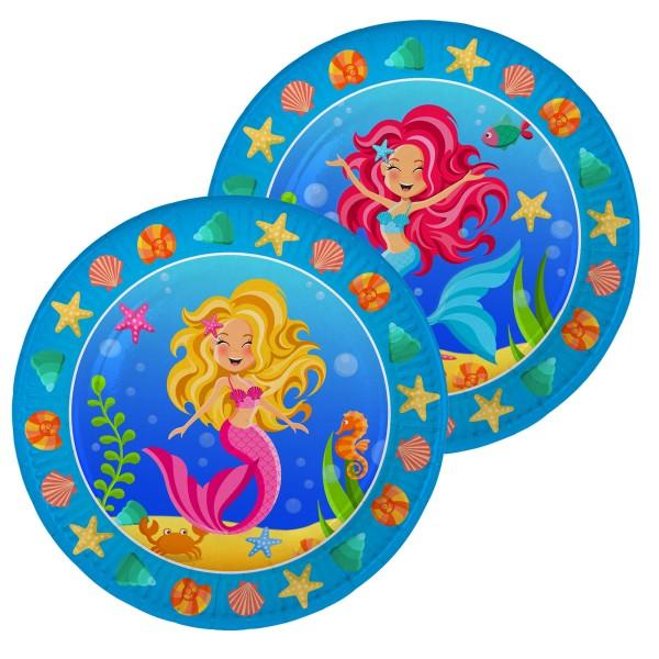 Meerjungfrauen Nixen Pappteller 8 Stück