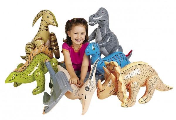 Dinosaurier zum aufblasen 6 Stück