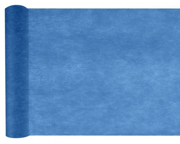 Tischläufer navy marine blau Vlies 10 Meter Rolle