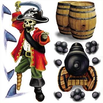 Piraten Wanddeko Kapitän mit Kanone