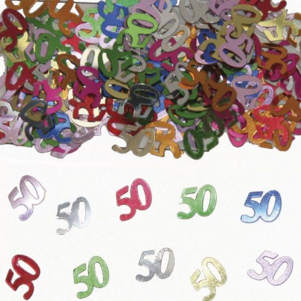 Konfetti Zahl 50 für Geburtstagsparty und Event