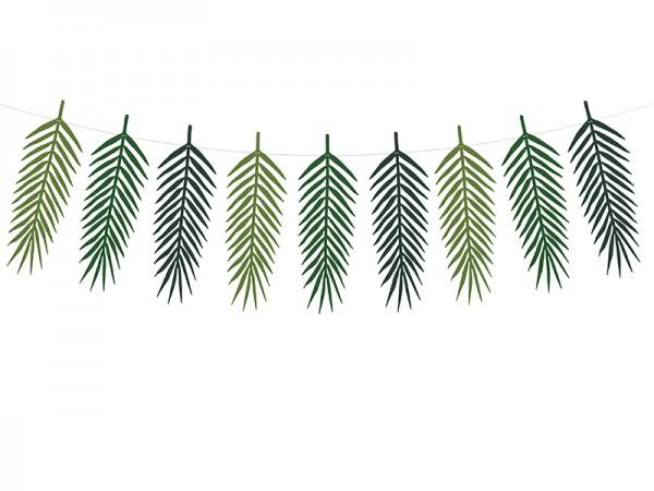 Palmenblätter Girlande aus Pappe mit 9 Blättern DIY