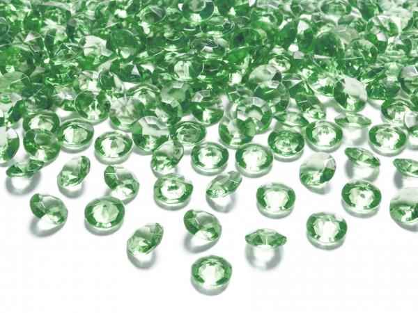 Dekosteine Diamanten grün dunkelgrün 100 Stück 12mm Durchmesser