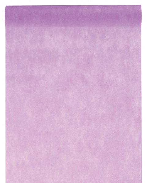 Tischläufer violett Vlies 10 Meter Rolle