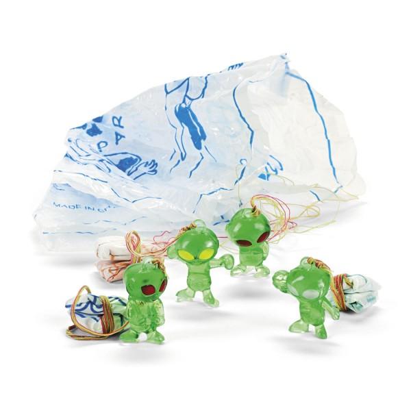 Mini Alien mit Fallschirm Geburtstagsparty Mitgebsel 12 Stück