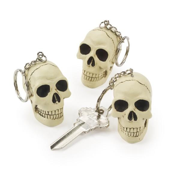 Halloween Piraten Totenkopf Schlüsselanhänger aus Resin 12 Stück