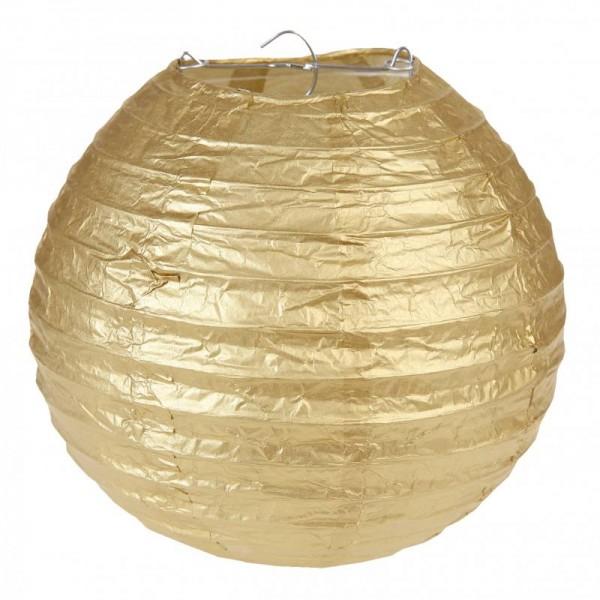 Laternen Lampions Gold Metallic 20cm Durchmesser 2 Stück