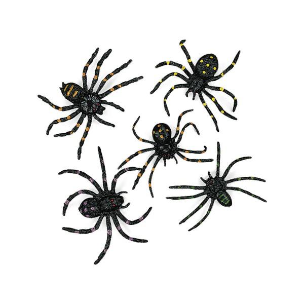 Spinnen für Halloween Deko Giftspinnen 12 Stück