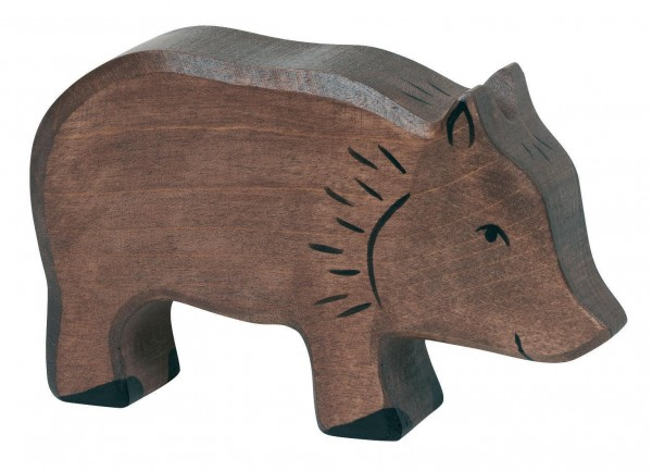Wildschwein Waldtier Holzfigur Sau Holzspielzeug von Holztiger