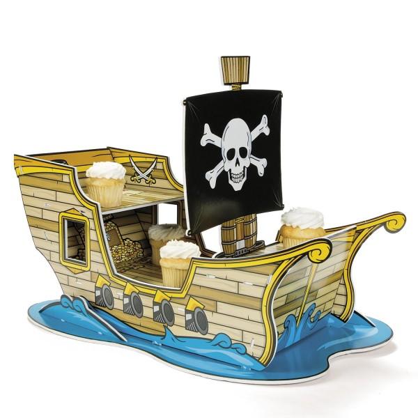 Cupcake Brownie Piratenschiff für Piratenparty oder Geburtstag