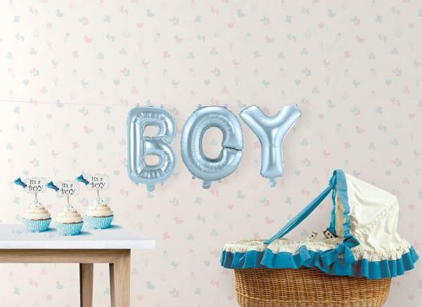 Ballon-Set Boy Folienballon Babyparty Babyshower