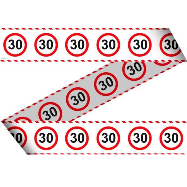 Absperrband für den 30 Geburtstag 15m lang