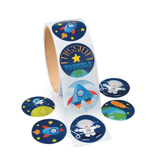 Weltraum Space Raketen Aufkleber Sticker 100 Stück