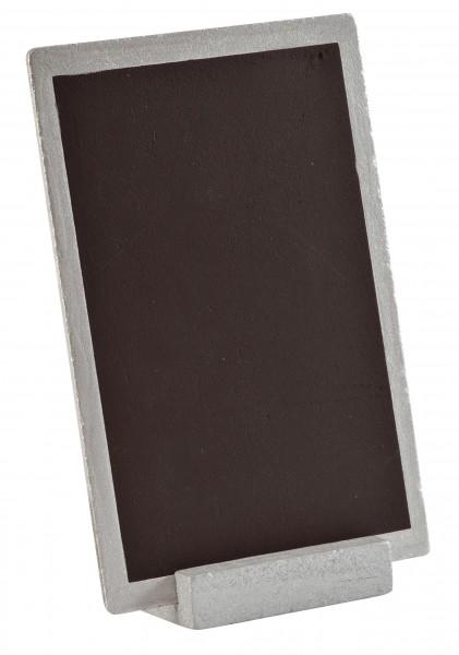 Tischtafel Holz-Tafel für Menü Tischnummer Platzkarte Silber Kreidetafel