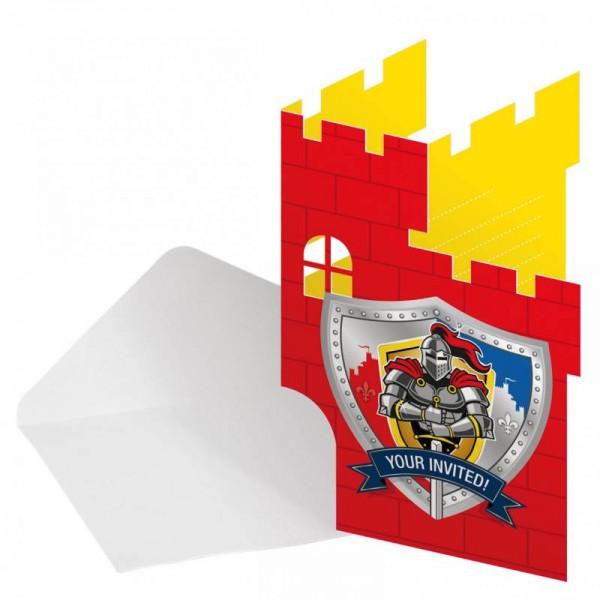 Ritter-Party Einladungskarten 8 Stück Kindergeburtstag