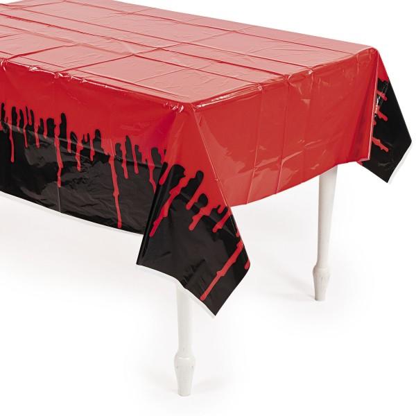 Halloween Tischdecke schwarz mit Blut