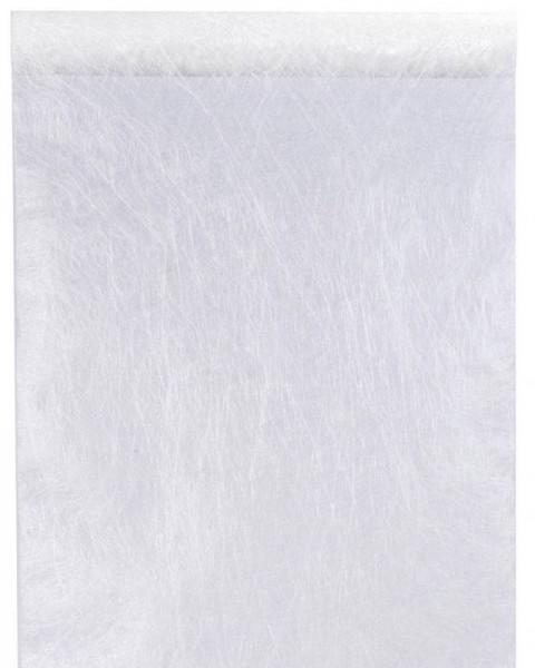 Tischläufer weiß strukturiertes Vlies 5 Meter Rolle