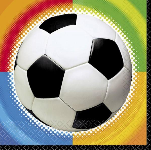 Fußball 16 Servietten, Fußballparty