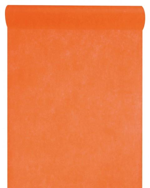 Tischläufer orange Vlies 10 Meter Rolle