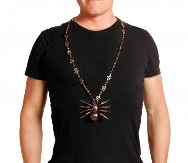 Halloween Halskette mit großer Spinne und Schlangen, Vogelspinne