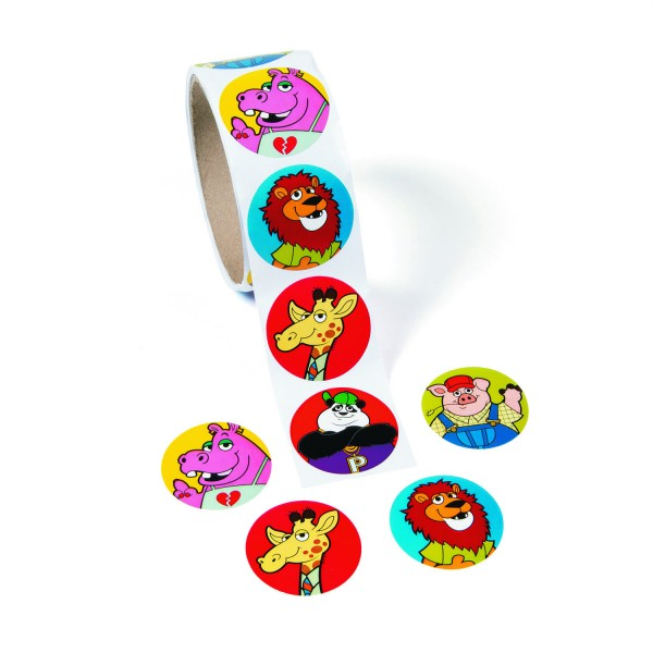 Lustige Tiere Aufkleber Sticker 100 Stück