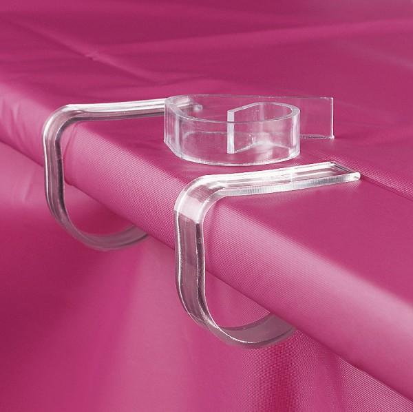 Transparente Tischklammern Tischdeckenhalter 72 Stück