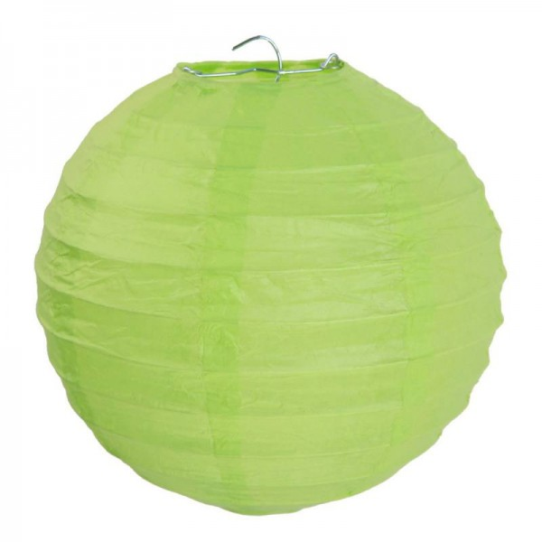 Lampions Grün Apfelgrün 30cm Durchmesser Laterne 2 Stück