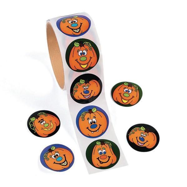 Lustige Halloween Kürbis Gesichter Aufkleber Sticker 100 Stück