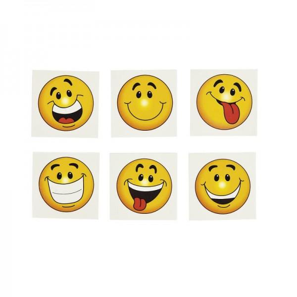 Kinder Tattoos lustige Smileys in 6 Motiven 36 Stück