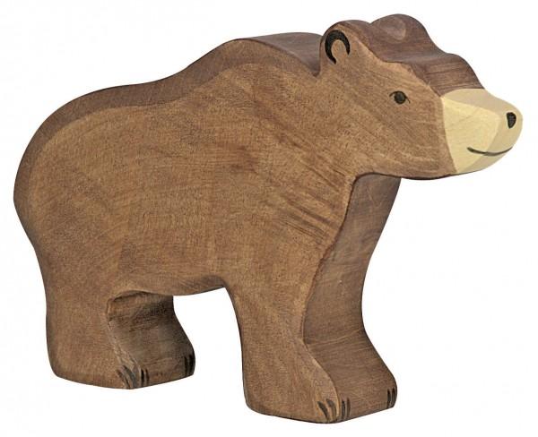 Holztiger Braunbär Bär Holzfigur
