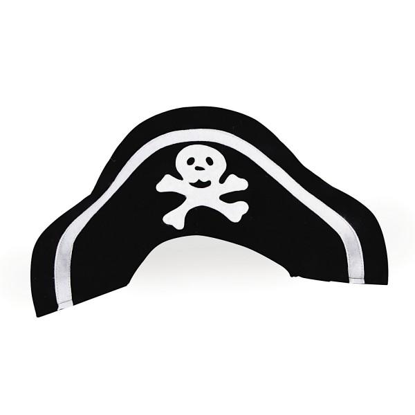 Piraten Hut Kapitän Mütze aus Filz 6 Stück