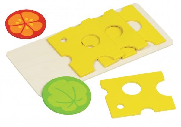 Kaufmannsladen Käseaufschnitt 4 Scheiben 1 Salatblatt von goki