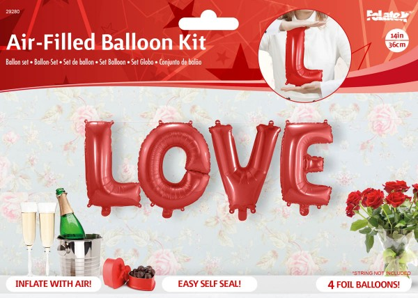 Ballon-Set Love Folienballon Valentinstag Hochzeit