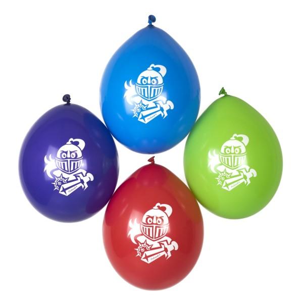 Ritter Luftballons für Ritterparty Palandi® 12 Stück Kopfdruck
