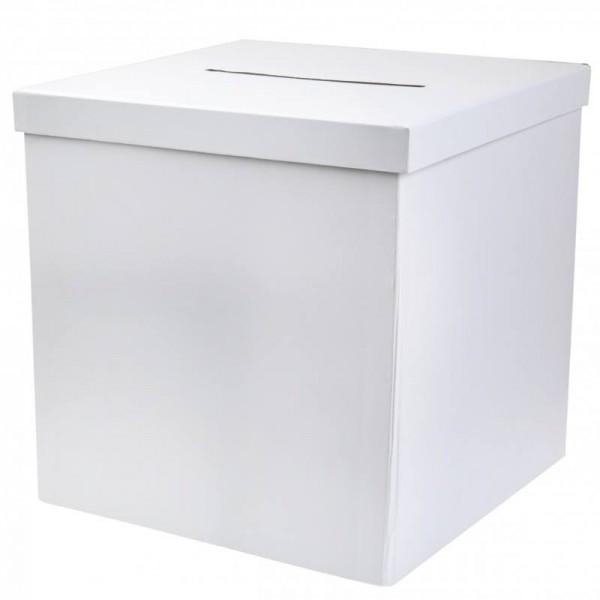 Box für Geldgeschenke Umschläge Tombola Verlosung in weiß