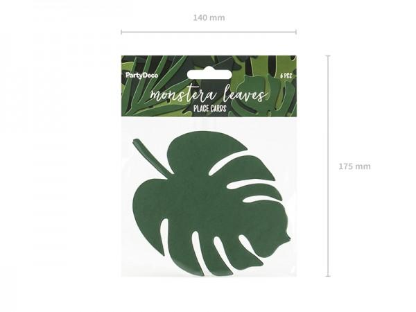 Palmenblatt Platzkarten Tischdeko Hula Hawaii Beachparty 6 Stück