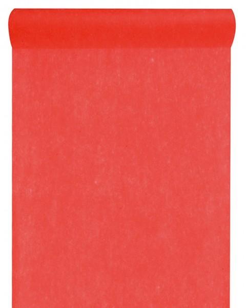 Tischläufer rot Vlies 10 Meter Rolle