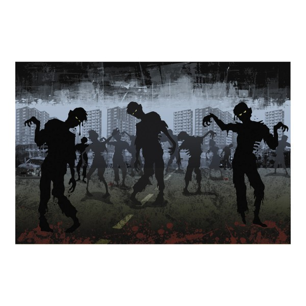 Halloween Zombie Wanddeko Raumdekoration 3 teilig
