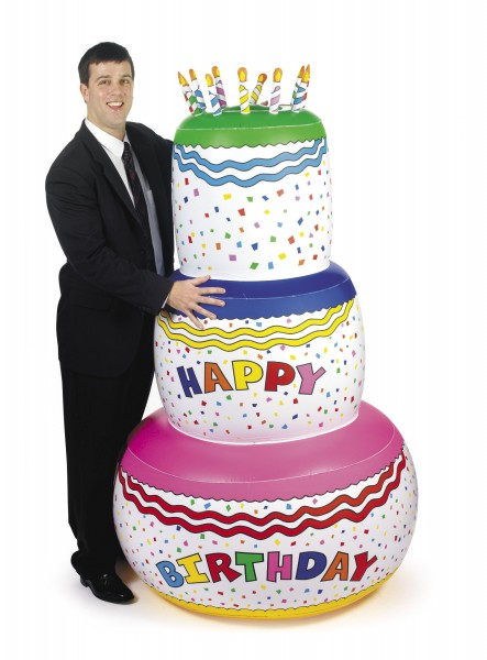 Aufblasbare Geburtstagstorte ca.183cm groß