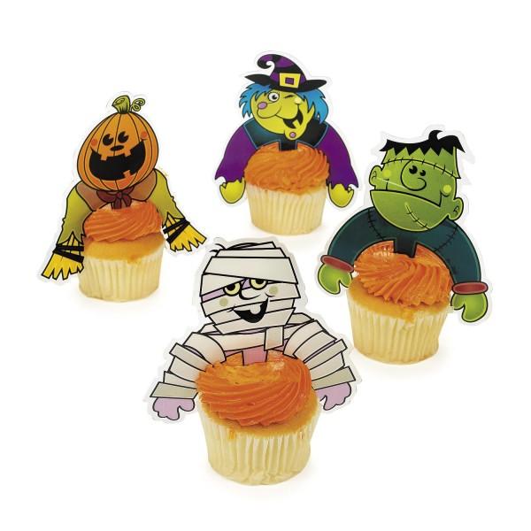 Cupcake Picks Halloween Mumie Hexe Kürbis Zombie