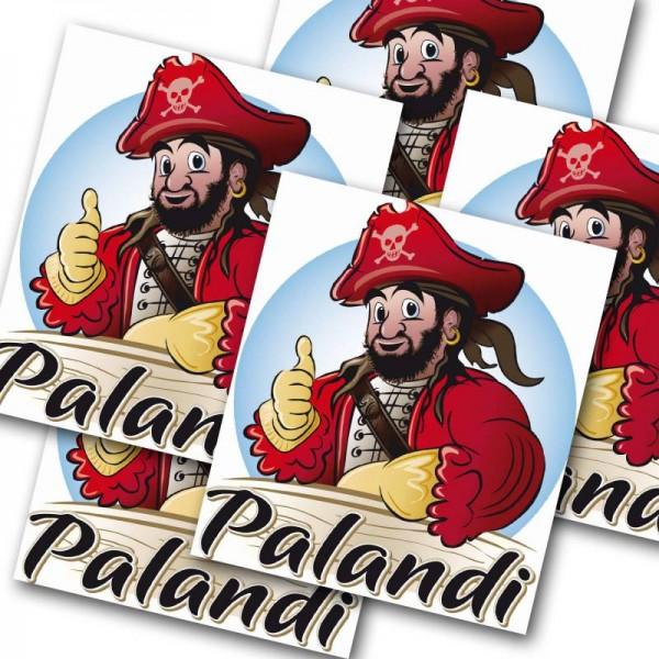 Piraten-Party Aufkleber Sticker Palandi 12 Stück