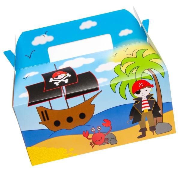 Piratenparty Geschenkboxen Partyboxen Mealboxen 6 Stück